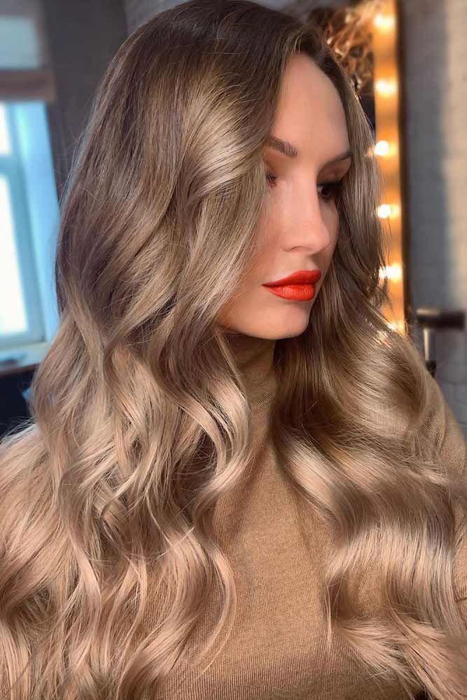 Long Dark Blonde Hair Sleek #darkblondehair #blondehair