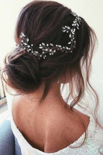 Updo Styles With Headband Low Bun #updo #headband #bun
