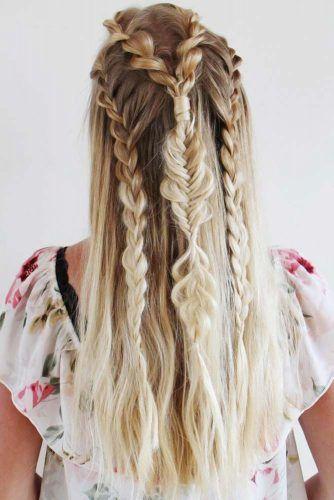 Bohemian Waterfall Braided Half-Up #braids