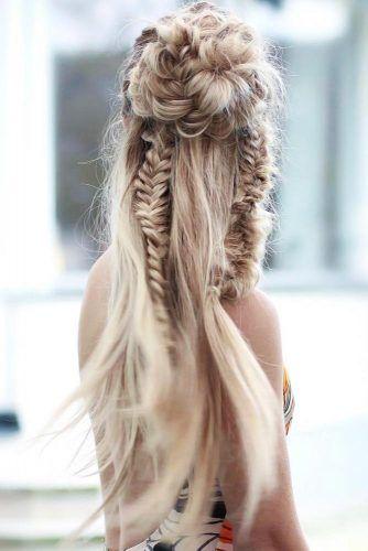 Braided Bun With Double Fishbone #braids