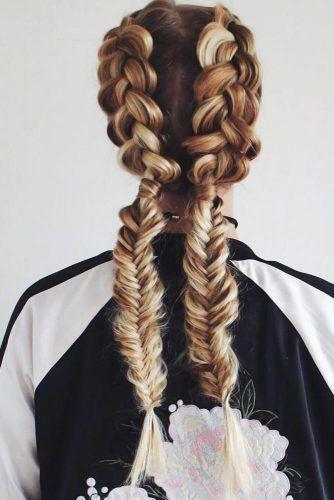 Double Dutch Braids Into Fishbone #braids