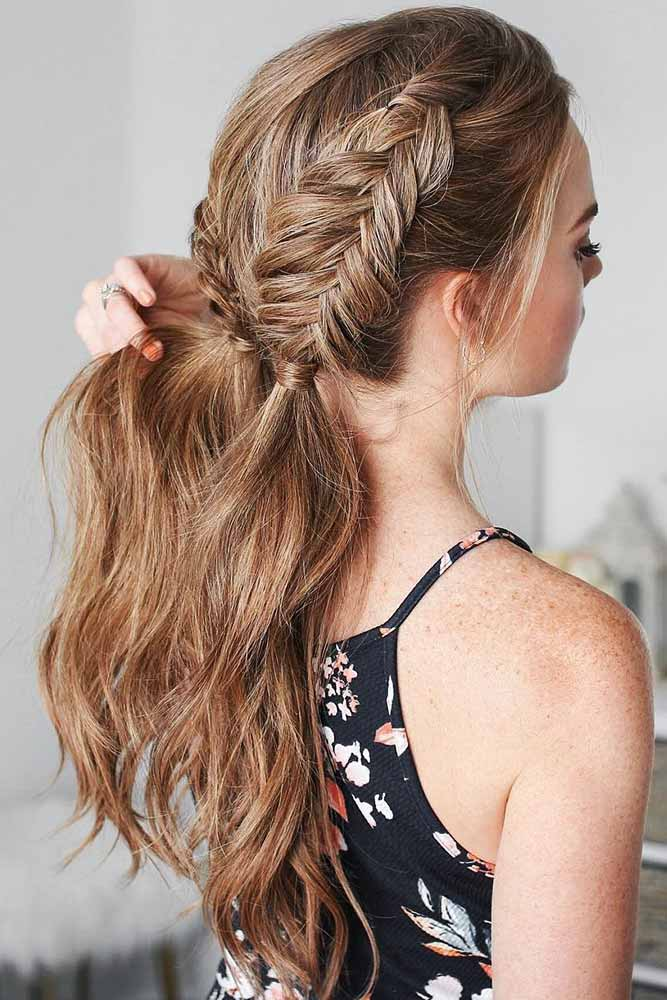 Double Fishtail Braid #braids #ponytail