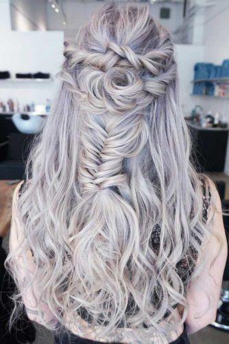 Twisted Rose Half-Up #braids