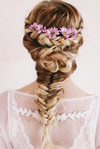 Crown Braid With Flowers #braids