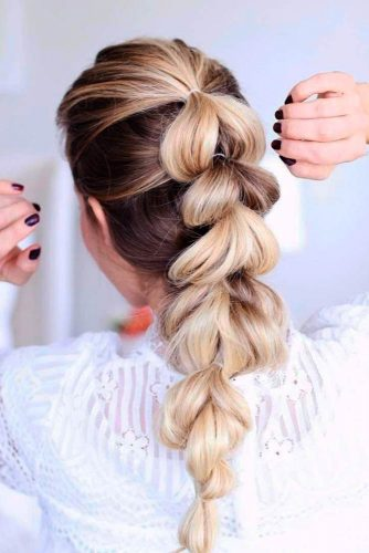 Loose Five-Minute Hairstyles with Braids picture3