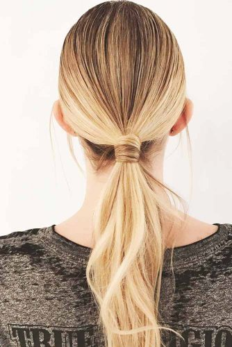 Messy Low Ponytails #updo #ponytails