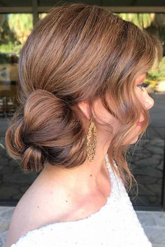 Simple Side Low Buns #updo #bun