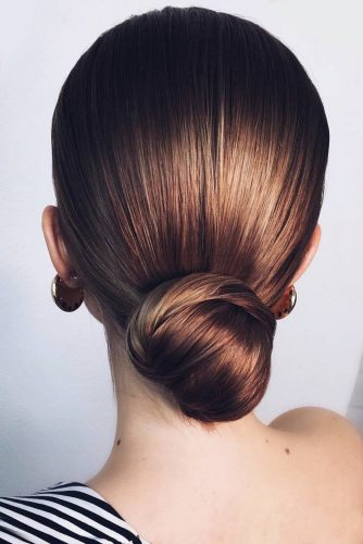 Simple Sleek Low Buns #updo #bun