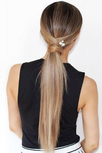 Sleek Low Ponytails #updo #ponytails
