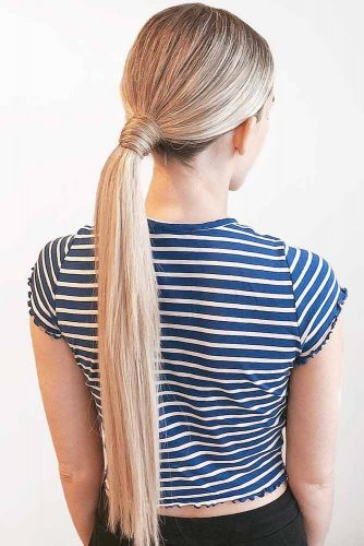 Straight Low Ponytails #updo #ponytails