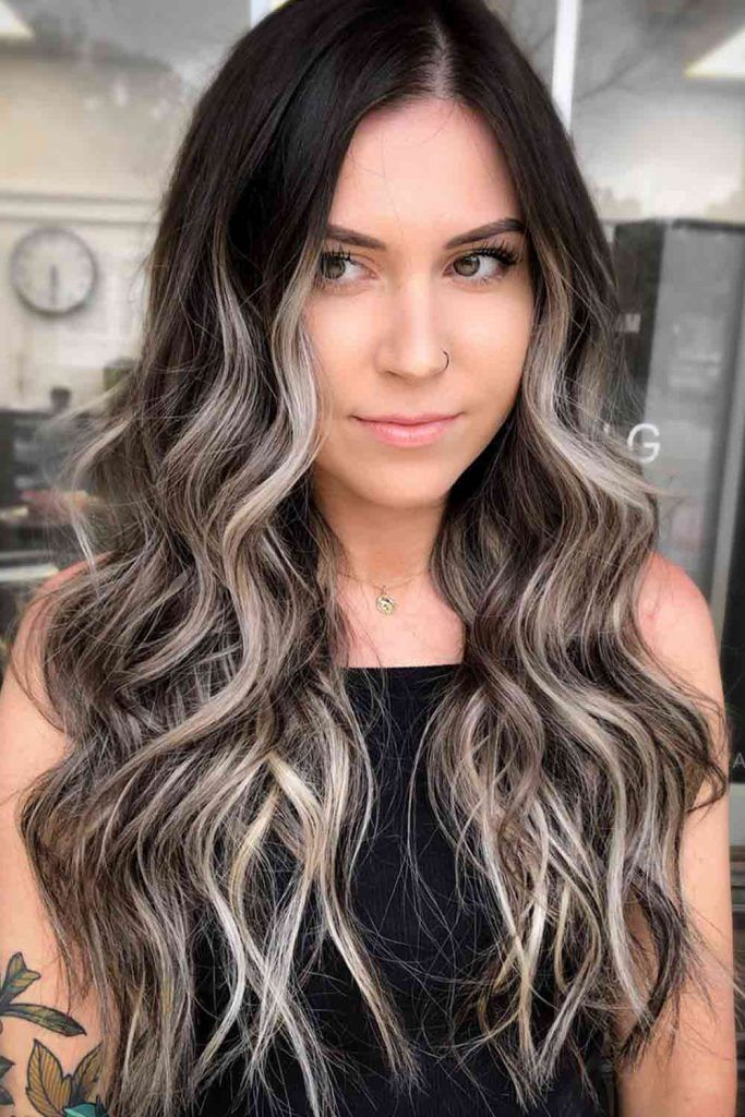 Ash Ombre For Wavy Hair #ombrehair #ashhairstyles