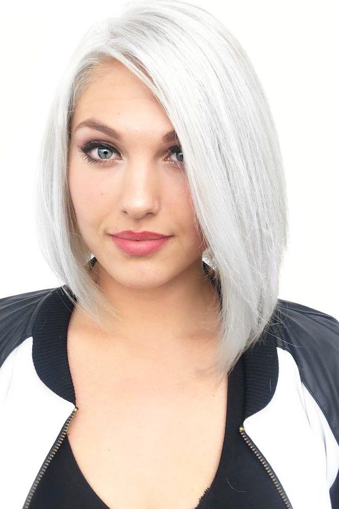 Gorgeous Straight Style #haircuts #ovalface #mediumhair #lobhaircut