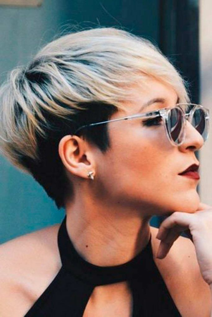 Short Two-Toned Pixie #ombre #twotonedhair