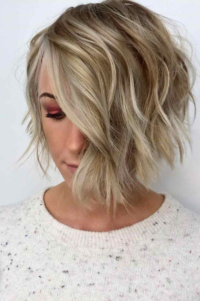 Side Swept Layered Bob #leyerdhairstyles #hair