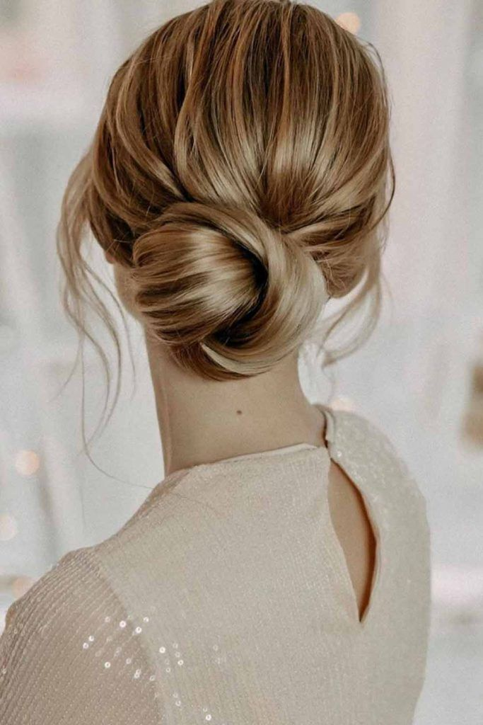Simple Low Bun #simplehairstyles #easyhairstyles