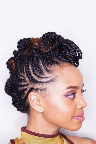 Twist and Braid Combo Hairstyles