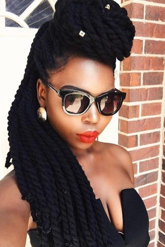 Pompadour Twists with Beads