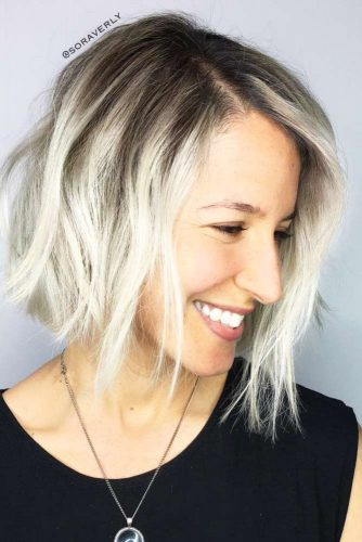 Texture Bob with Side Part