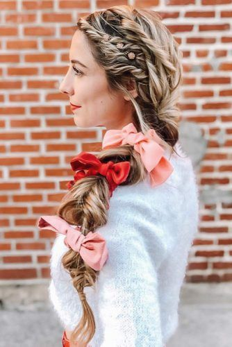 Hair Bows Braid #holidayhair #holidayhairaccessories #accessories