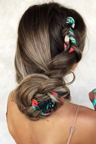 Silk Scarves Bun #holidayhair #holidayhairaccessories #accessories