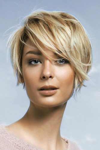 Golden Crop Pixie Haircuts