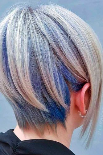 Long Pixie With Blue Color Fade