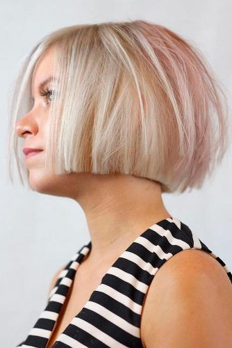 Straight & Blunt Bob For Chin Length Hair