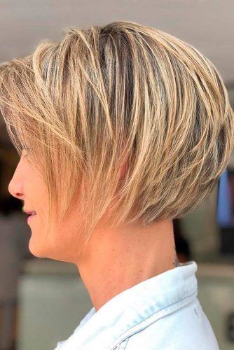 Feathered Short Bob
