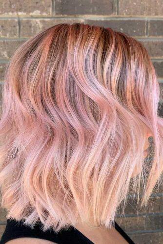 Peach-Pink Bob