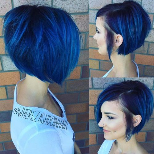 Super Textured Undercut Asymmetrical Bob
