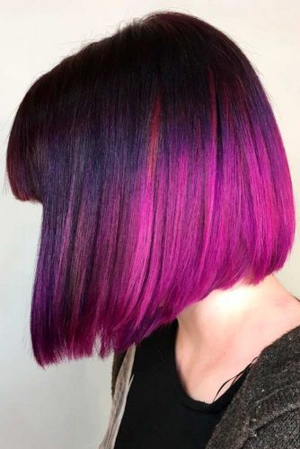 Blunt Bob with a Strong Fringe