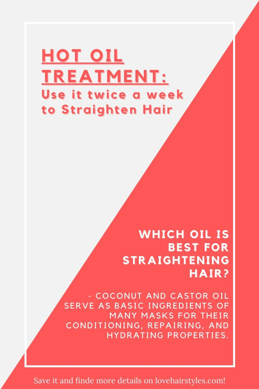 DIY Hot Oil Treatment To Straighten Hair Naturally