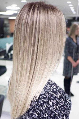 Long Straight Hairstyles With Blonde Highlights