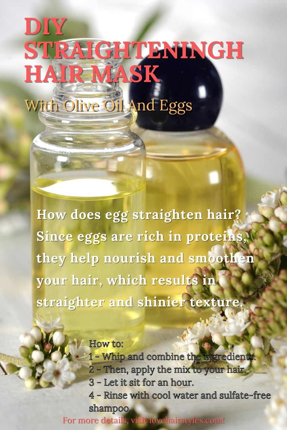 DIY Straightening Mask With Olive Oil And Eggs