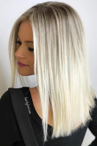 Long Straight Hairstyles Blonde Color