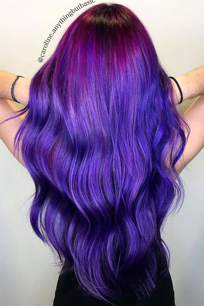 Dark Purple Hair Ombre picture 2