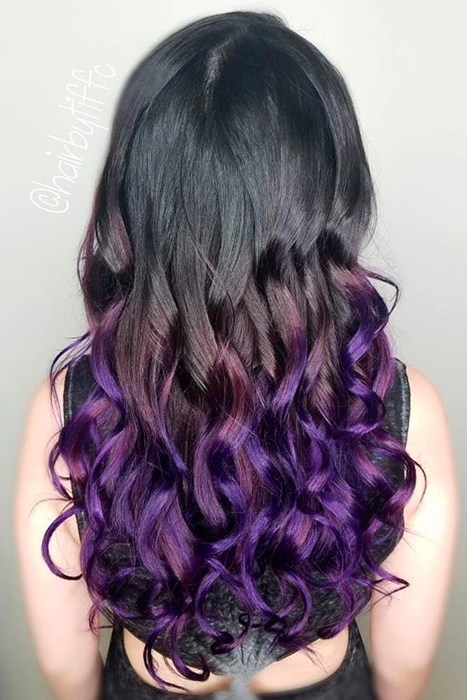 Dark Ombre with Purple Shades picture 1