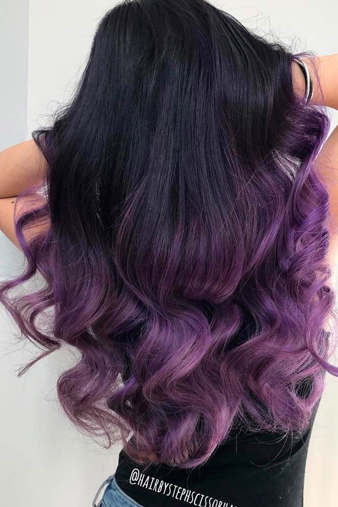 Dark Ombre with Purple Shades picture 2