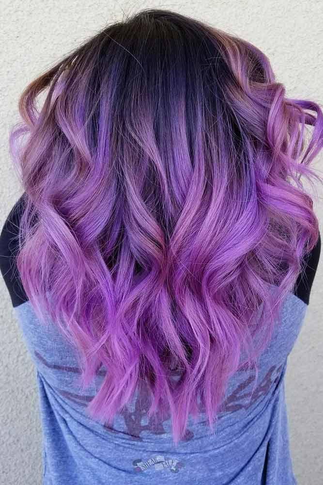 Dark Purple Hair Ombre picture 3