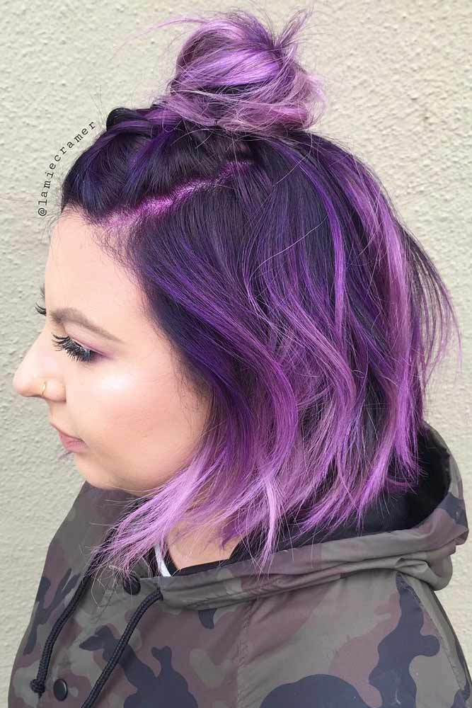 75 Tempting And Attractive Purple Hair Looks Lovehairstyles Com