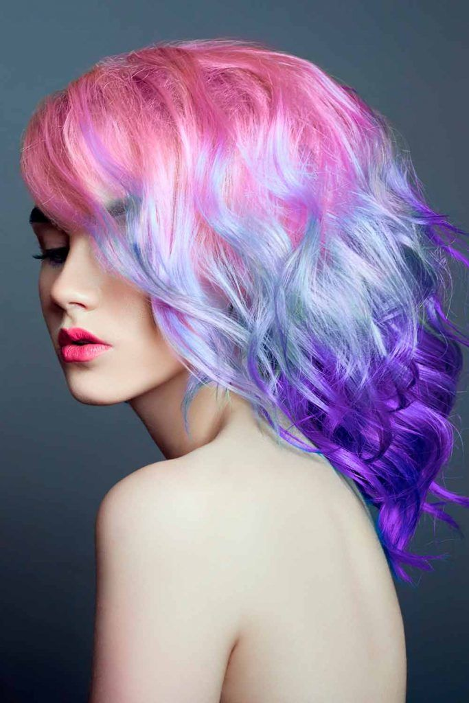 Attractive Purple Hair Ombre
