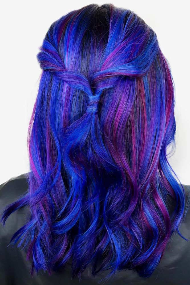 Cute Hairstyles With Purple Strands #purplehair