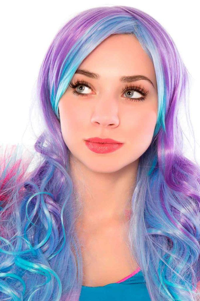Blue And Purple Hair Mermaid
