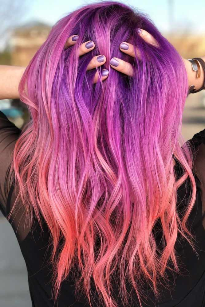 Cool Purple Ombre Shades Pink #purplehair