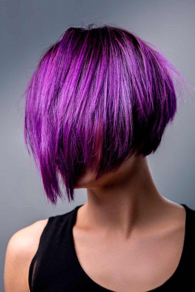 Royal Purple Hair Bob #angledbob