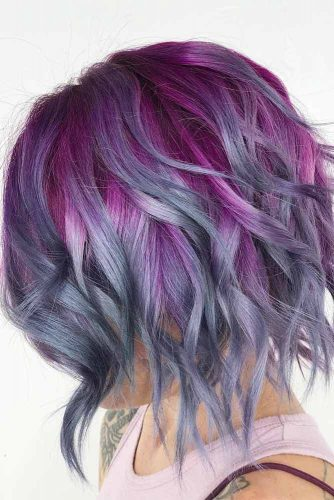 Dark Magenta To Gray Ombre