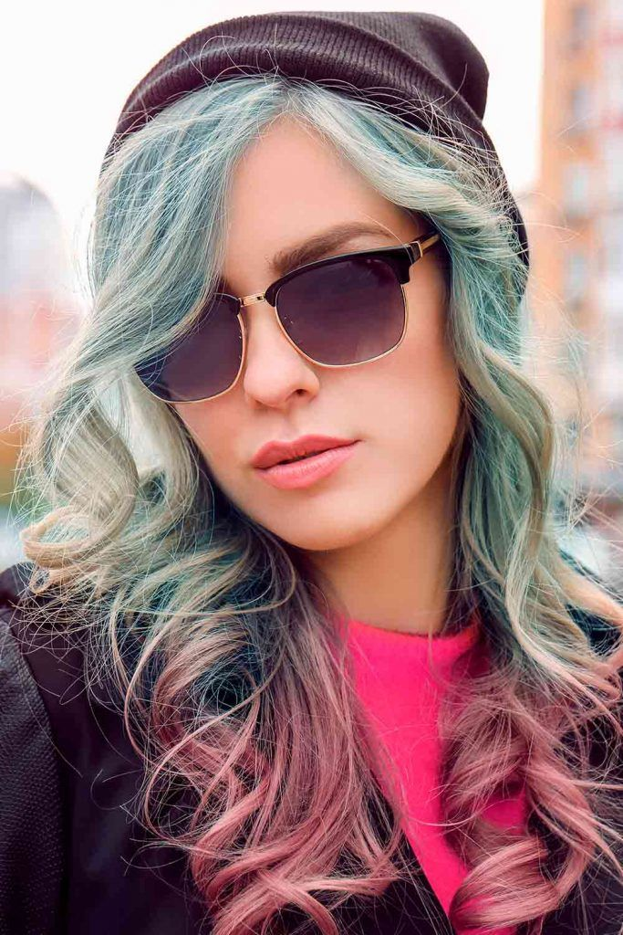 Mystic Sky Blue To Purple Hair Colors #haircolored