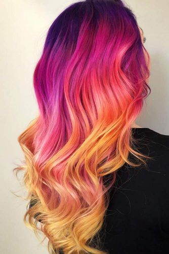 Cool Purple Ombre Shades Orange #purplehair