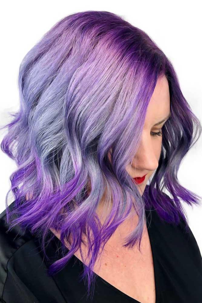 Cool Purple Hair For Brave Girl #purplehair