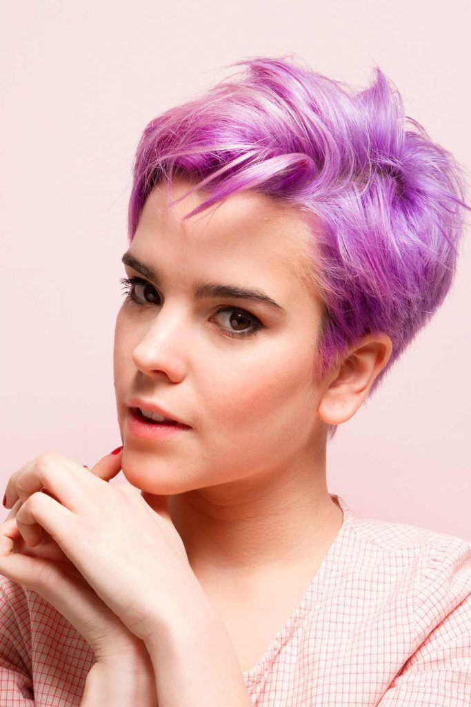 Amazing Light Purple Pixie #pixiecut